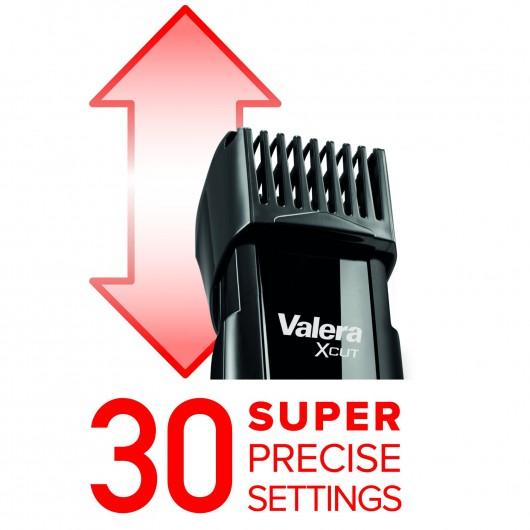 Триммер Valera 642.02 имеет 30 регулировок длины стрижки щетины